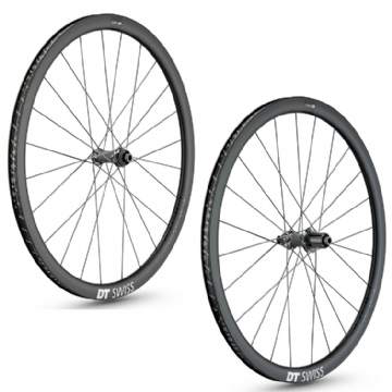 Paire de roues carbone PRC 1400 SPLINE 35 Disc DT SWISS